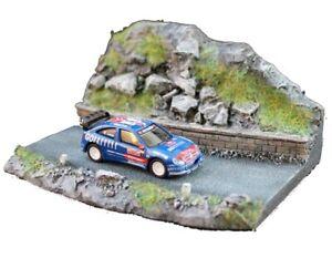 NINIVE 1ZD Diorama modello RALLY di Montagna in resina per automodellismo 1:87