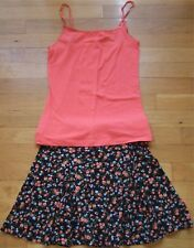 NEW 2pc PAPAYA & AMBIANCE APPAREL Cami Top Shirt & Skirt S Small M Medium NWT