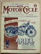 The MOTOR CYCLE Magazine 16 Nov 1939 Spring Frame Panther Tested