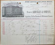 Coffee & Spice Mills, Arbuckles & Co. 1891 Letterhead - Pittsburgh, PA Penn