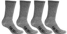 FUN TOES Men 4 Pairs Merino Wool Socks Lighweight Black Hiking trailing winter