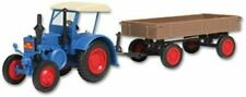 kibri LANZ Tracteur avec Remorque à Pneus en Caoutchouc Échelle HO Kit Modèle (12232)
