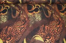 XXL Feinstrick Stoff schwarz-braun-gelb gemustert