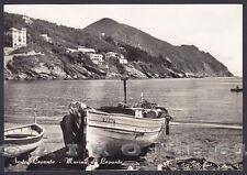 GENOVA SESTRI LEVANTE 129 BARCHE Cartolina FOTOGRAFICA viaggiata (1969 ?)