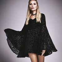 Free People Cocktails And Couture Velvet Dress Black Size S
