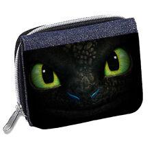 Toothless Dragon Personalised Denim Wallet
