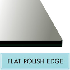 """32"""" x 48"""" Rectangle Glass Top 3/8"""" Thick - Flat Polish Edge with Touch Corners"""