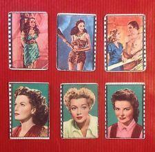 6 Figurine Cinema Nannina, 3 Tarzan RKO e 3 Attrici O'Hara, Turner, Hepburn.