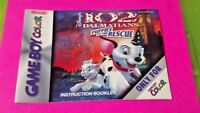 102 Dalmatians Rescue - Nintendo Game Boy Color Instruction MANUAL ONLY No Game