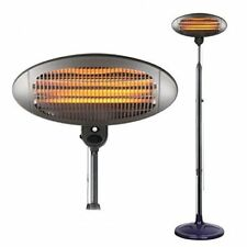 Prem-I-Air  2000W Quartz Electric Portable Free Standing Outdoor Patio Heater