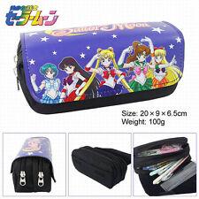 Anime Sailor Moon Crystal Pen Pencil Case Zipper Make Up Bag box cosplay