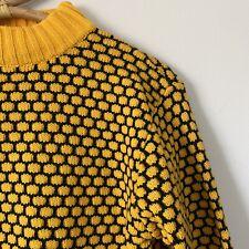 XL Juniors Fits Womans Medium - Honeycomb Geometric Mock Neck Sweater
