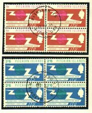 PITCAIRN ISLANDS 1965 ITU FINE USED BLOCKS OF 4 SCARCE