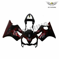 Injection Black Red Flames Fairing Kit for Honda 2001 2002 2003 CBR600 F4I a01