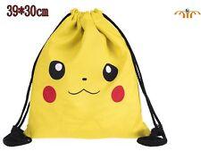 Mochila saco de tela Pokémon Pikachu Pokemon