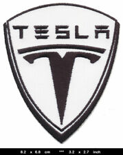 TESLA Aufnäher Patch Bügelbild Automobile Elektromobile Elektrofahrzeuge USA