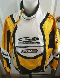 Coldwave Snowmobile Jacket  SX Racing Shell Orange/Black/White Red Yellow Med