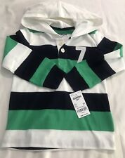 Oshkosh Toddler Boy Striped Long Sleeve Rugby Top 2T Nwt