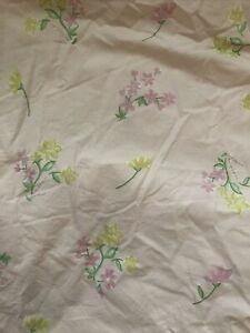 POTTERY BARN Kids Pink Floral  Duvet Cover Cotton Pretty