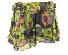 ISABEL MARANT Black 100% Silk Floral Mini Skirt XS $750 Rare 38 S