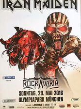 IRON MAIDEN  2016  MÜNCHEN   orig.Concert Poster - Konzert Plakat 118x84 cm