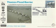 1983 GB Thames Flood Barrier Stamp First Day Cover Special London PMK Ref: MT174