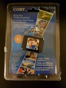 Coby DP-151 Digital Photo Keychain Holds 60 Photo's NEW