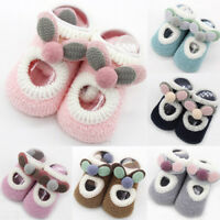 Toddler Kids Baby Girl Boy Anti-Slip Socks Newborn Cartoon Warm Shoes Slipper AB