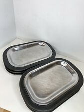 Thermo-Plate Stainless Steel Steak Sizzler Plate Service Ideas - Set of 6