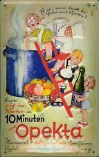 Blechschild Opekta Kinder Kochtopf retro Schild Küche Dekoration 20x30