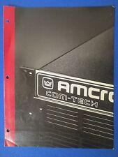 AMCRON CROWN CT-200 CT-400 COM-TECH SALES BROCHURE ORIGINAL FACTORY ISSUE