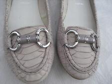 *högl* Loafer mit Strass, Reptil-Leder,Gr. 37, taupe-rosé,  nicht getragen