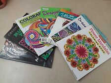 7 Adult Coloring Book Lot