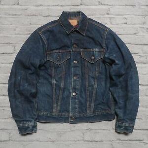Vintage Levis Big E Type 3 Blanket Lined Denim Trucker Jean Jacket Troy Mills