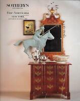 Sotheby's Fine Americana & Folk Art Auction Catalog January 1992