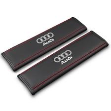 Pair Car Seat Belt Pads Shoulder Strap Cushion Covers For Audi