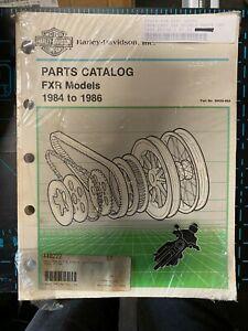 PARTS CATALOG FXR MODELS 1984 - 1986 HARLEY DAVIDSON 99439-86A