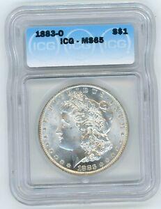 1883 O Morgan Silver Dollar ICG MS65