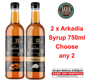 Arkadia Flavoured Syrup 750ml CHOOSE 2 (5 Flavours) Barista Cafe FAST DISPATCH