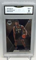 ZION WILLIAMSON 2019-20 PANINI MOSAIC NBA BASKETBALL ROOKIE CARD #209 MINT 9 - G