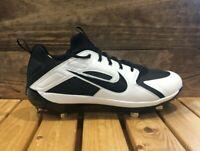 Nike Alpha Huarache Elite Low Baseball Cleats Black White - Men's 13 AH7524-002