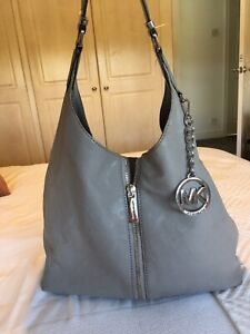 Michael Kors  Dove Gray Slouch Shoulder Bag With Zip Detail