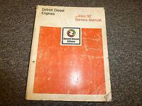 Detroit Diesel Allison 6V92 8V92 12V92 16V92 Engine Shop Service Repair Manual