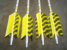 4 New Cedar Wood Traditional ARCHERY   Arrows LONG BOW  FLU-FLU 50/55