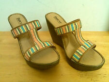 Born New Womens Wedge Sandals US 10 Eur 42 M Shoes NWOB