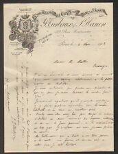 """PARIS (II°) USINE de CONFECTION VETEMENTS DAMES & ENFANTS """"TURBAUX & HANON"""" 1902"""