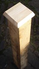 """WOOD FENCE POST CAPS .12 WOODEN 5""""X5""""X3/4"""" CAPPINGS TO FIT 4"""" SQUARE POSTS"""