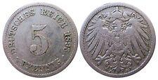 J 12   5 Pfennig KAISERREICH 1893 J in SS  502924