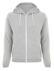 Hoodie Zipped Mens Zip Hooded Quality Sweatshirt Fleece Hoody Jumper Pullover