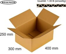 40 Faltkartons 400x300x250mm B-410g/m2  Versandkarton Falt Kartons [ BRAUN ]